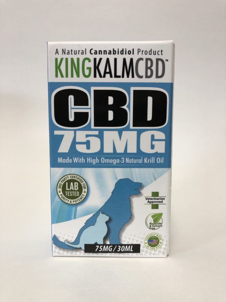 King Kalm – Pet Drops FSO Oil 75mg