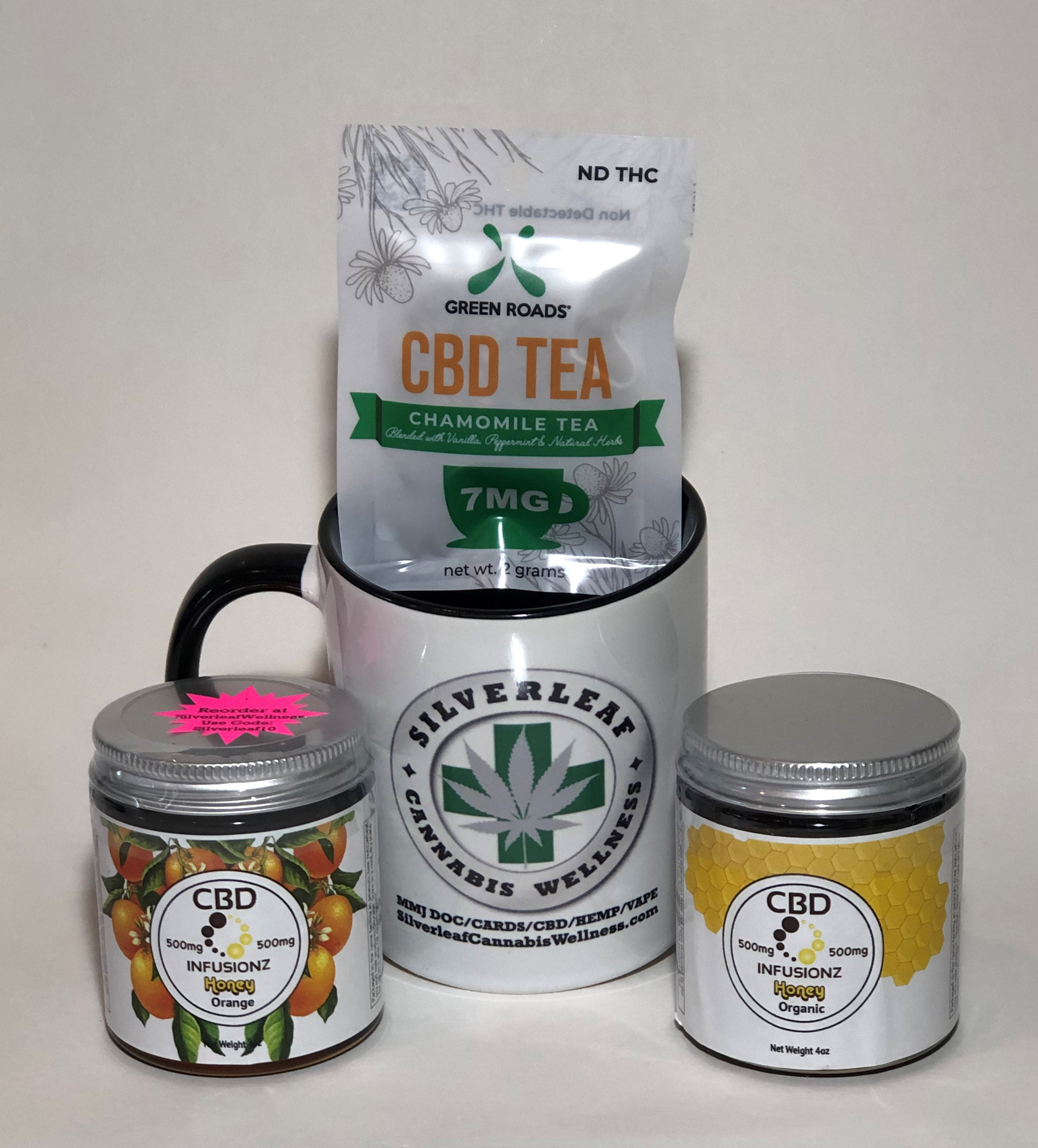 Green Roads - Chamomile Tea – 1bag/2grams/7mg *NOTE: Total Online Order  Must Exceed $20 to Ship