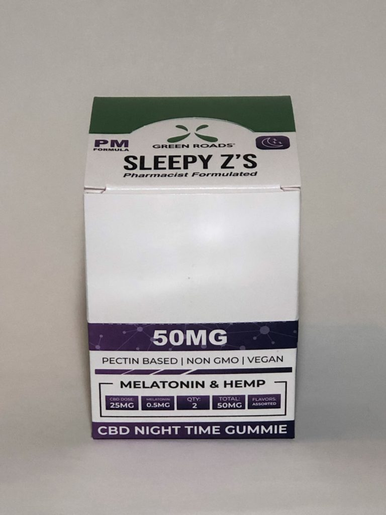 Green Roads – Sleepy Z's – 500mg Box of 10 50mg Two Packs *SPECIAL PRICE*