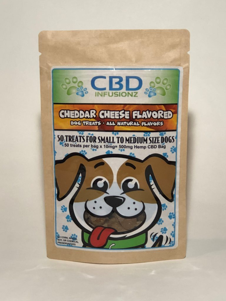Infusionz – Cheddar Pet Treats – 250mg or 500mg *SPECIAL PRICE*
