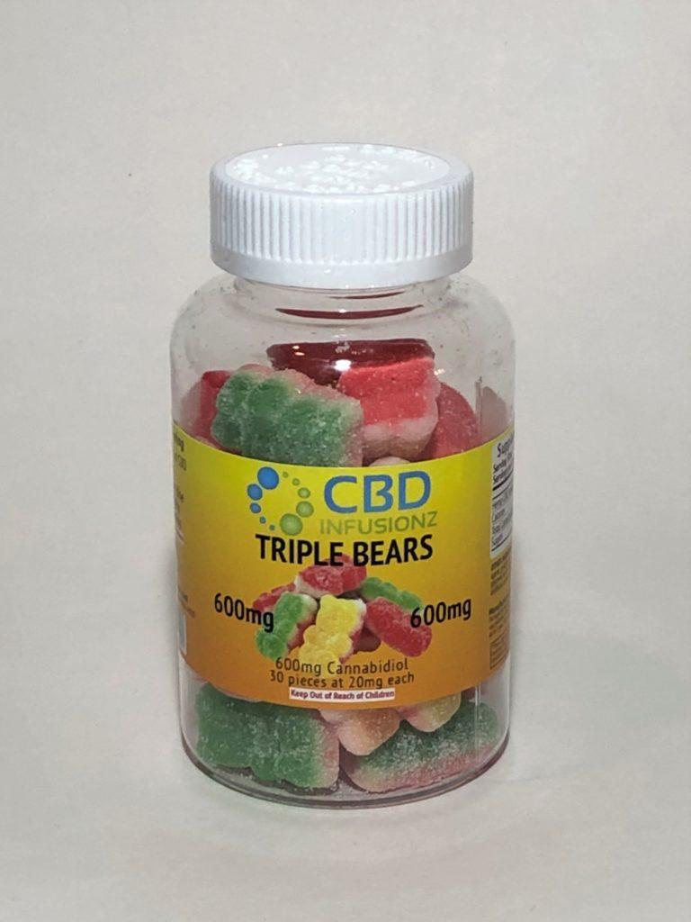 Infusionz – Triple Layer Gummy Bears – 100mg/200mg/600mg/1200mg